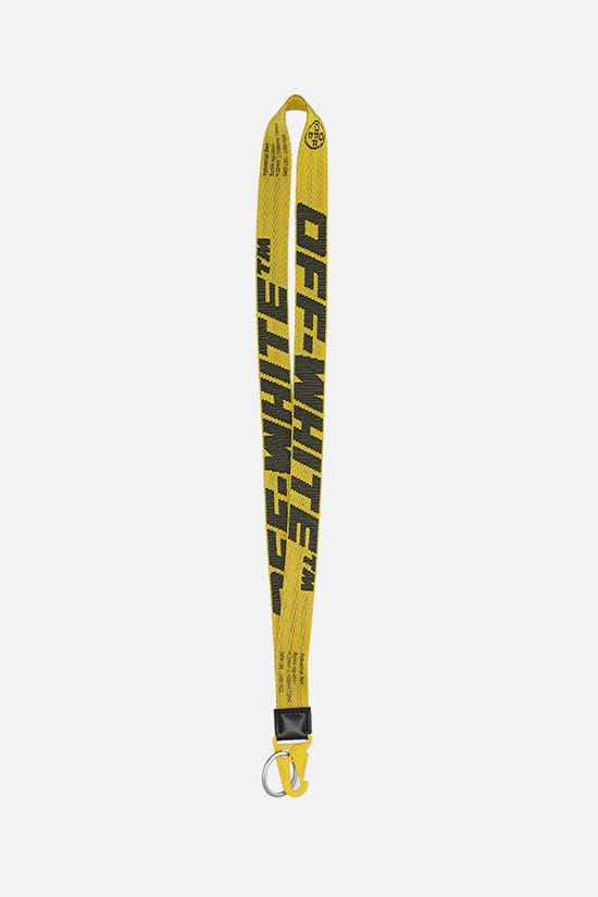 OFF WHITE: Industrial logoed fabric key lanyard Color Yellow_1