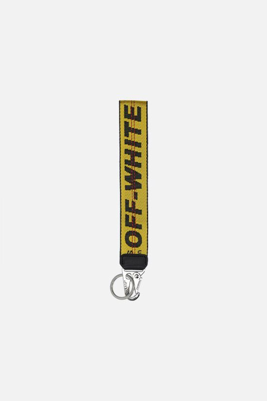 OFF WHITE: Industrial logoed fabric key holder Color Yellow_1