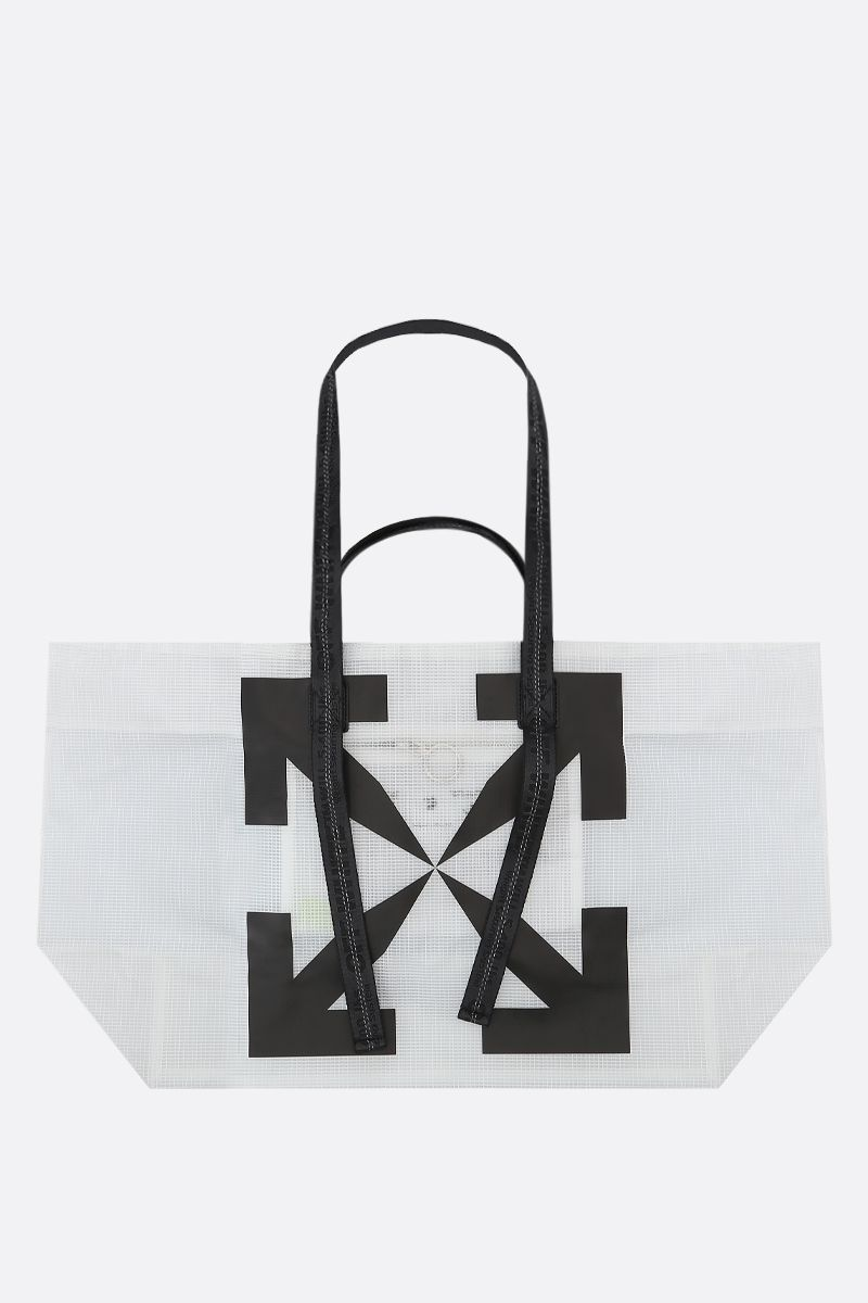 OFF WHITE: borsa tote Arrow in vinile_1