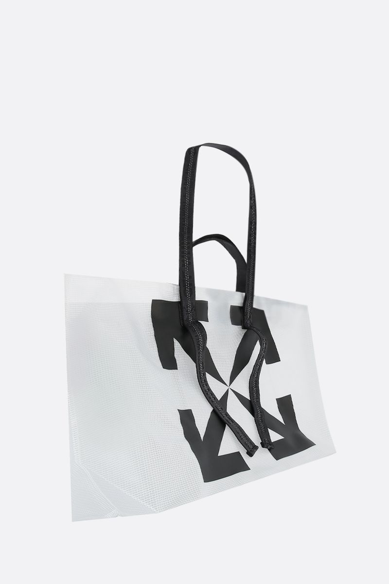 OFF WHITE: borsa tote Arrow in vinile_2