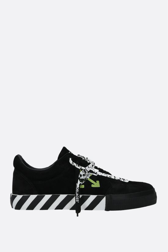 OFF WHITE: sneaker Low Vulcanized in suede Colore Nero_1