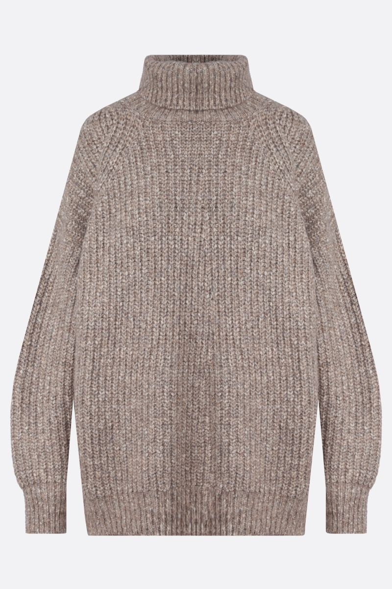 ISABEL MARANT ETOILE: Tonya cotton wool blend oversize turtleneck Color Neutral_1