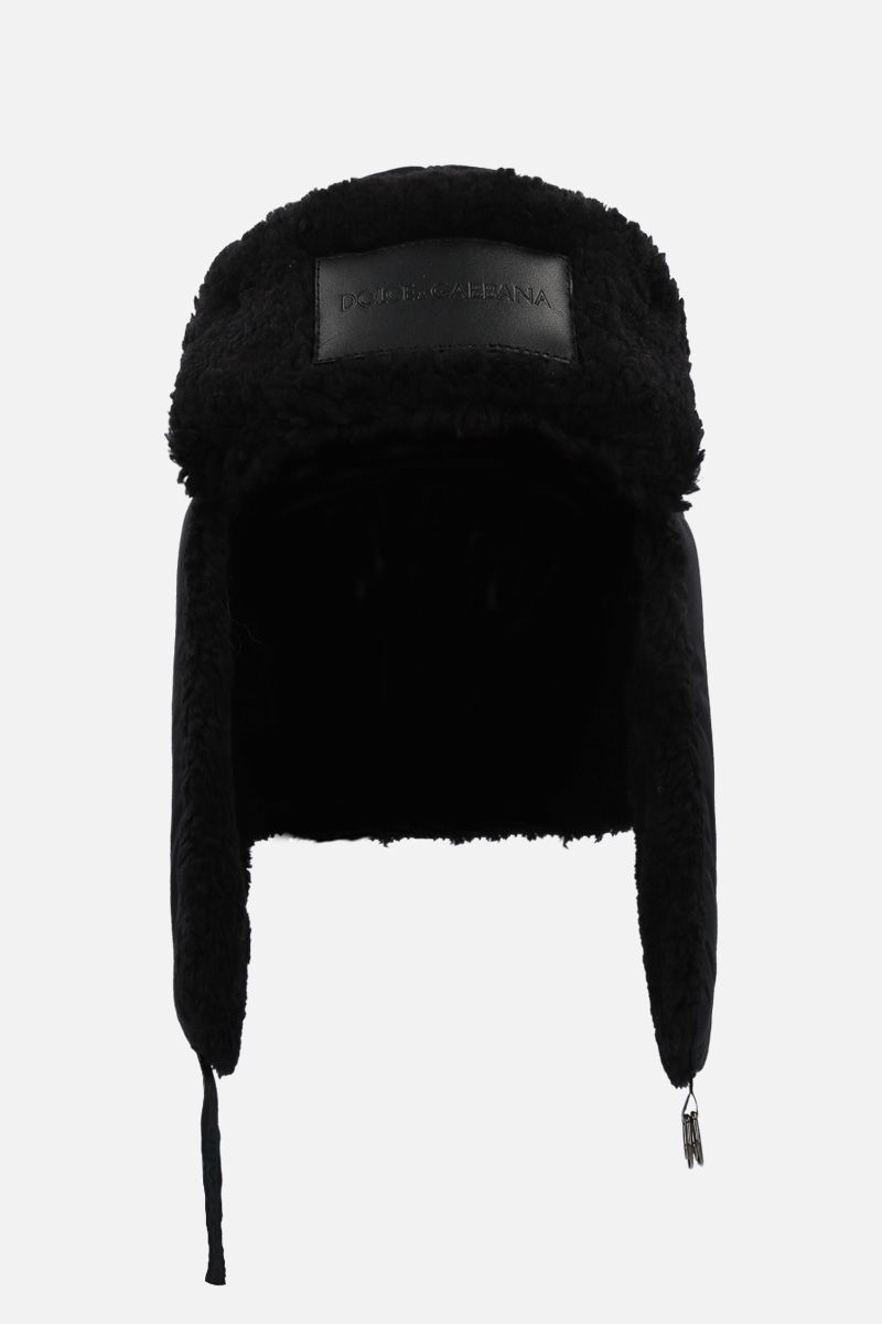 DOLCE & GABBANA: nylon aviator hat Color Black_1