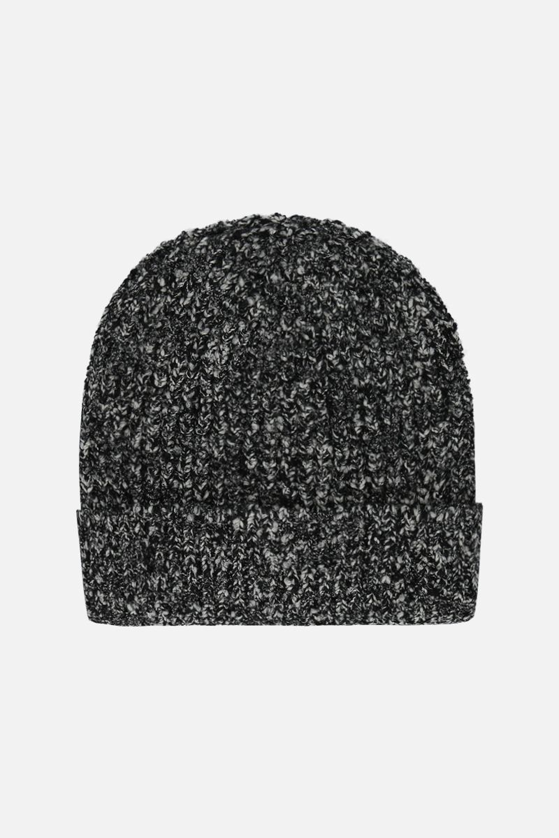 DOLCE & GABBANA: melange wool blend beanie Color White_1