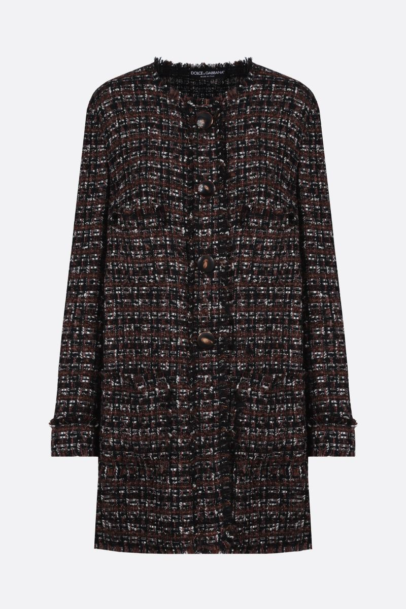 DOLCE & GABBANA: tweed single-breasted coat_1