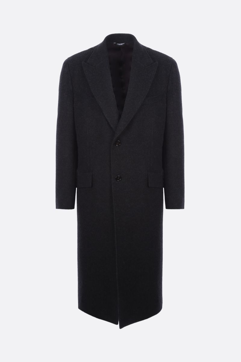 DOLCE & GABBANA: single-breasted wool coat Color Grey_1