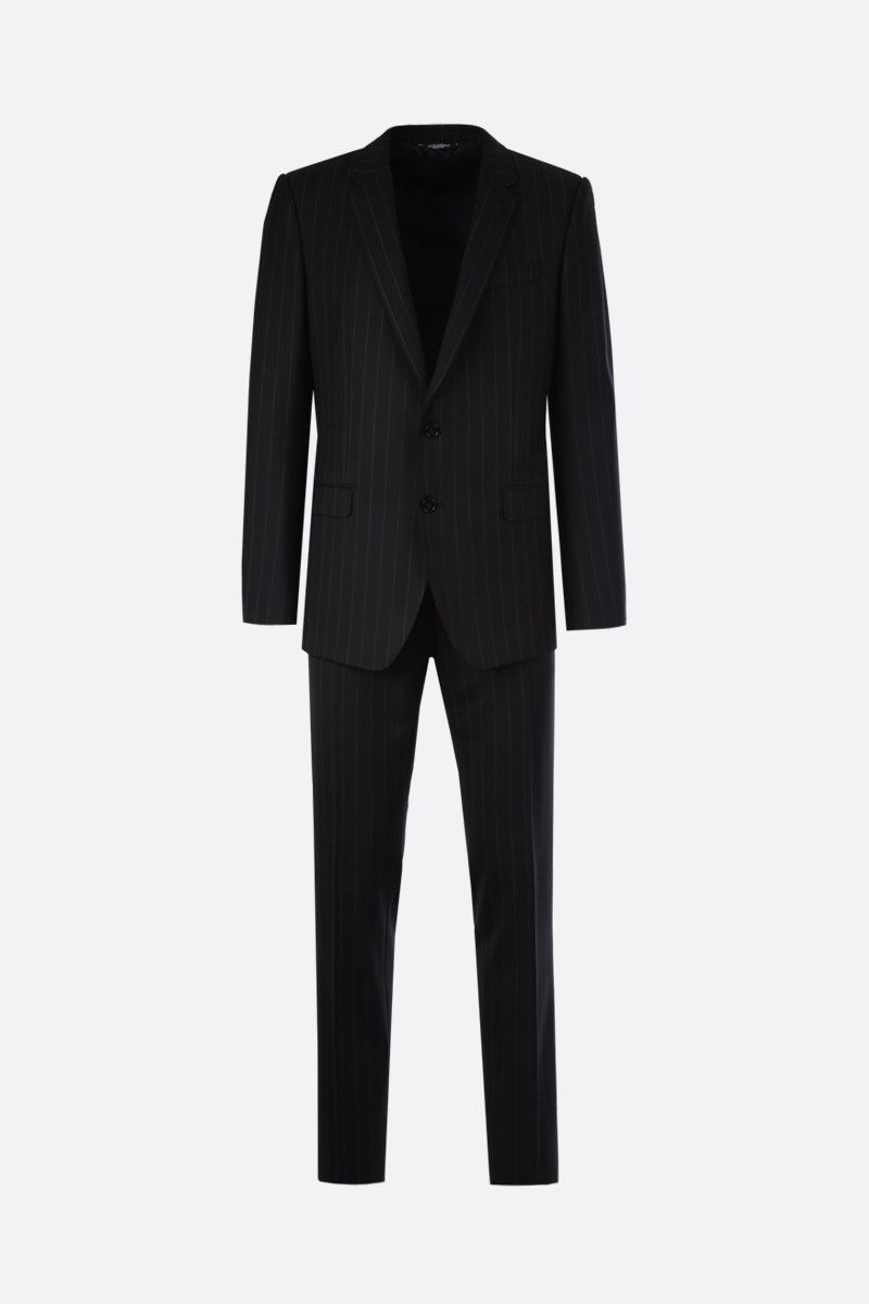 DOLCE & GABBANA: Martini pinstriped wool blend two-pieces suit Color Grey_1