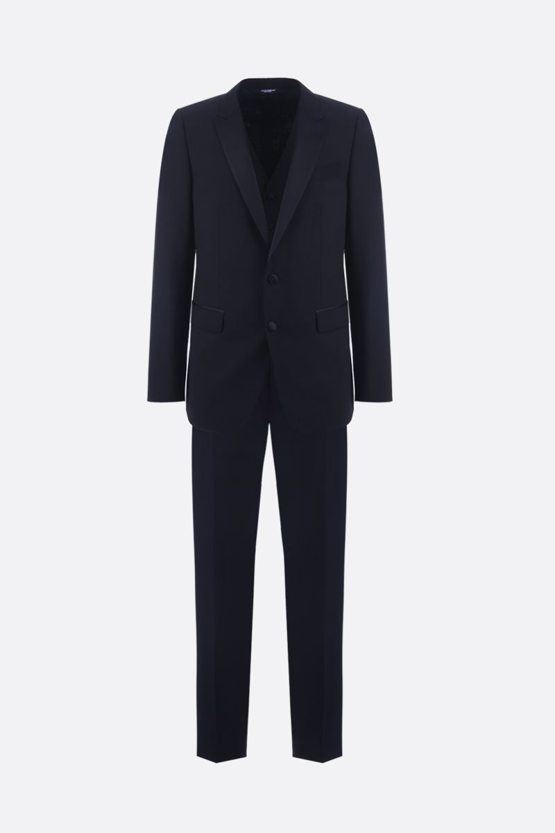 DOLCE & GABBANA: lightweight wool tuxedo suit Color Black_1