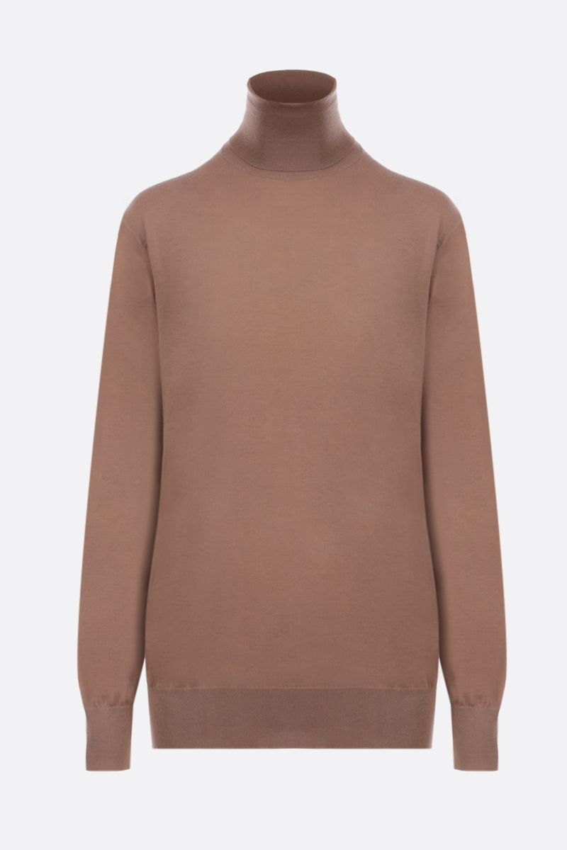DOLCE & GABBANA: cashmere turtlemeck Color Brown_1
