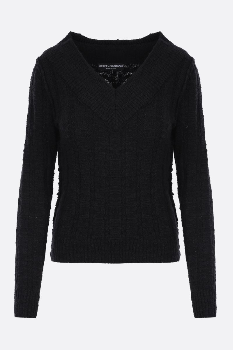 DOLCE & GABBANA: wool blend pullover Color Black_1