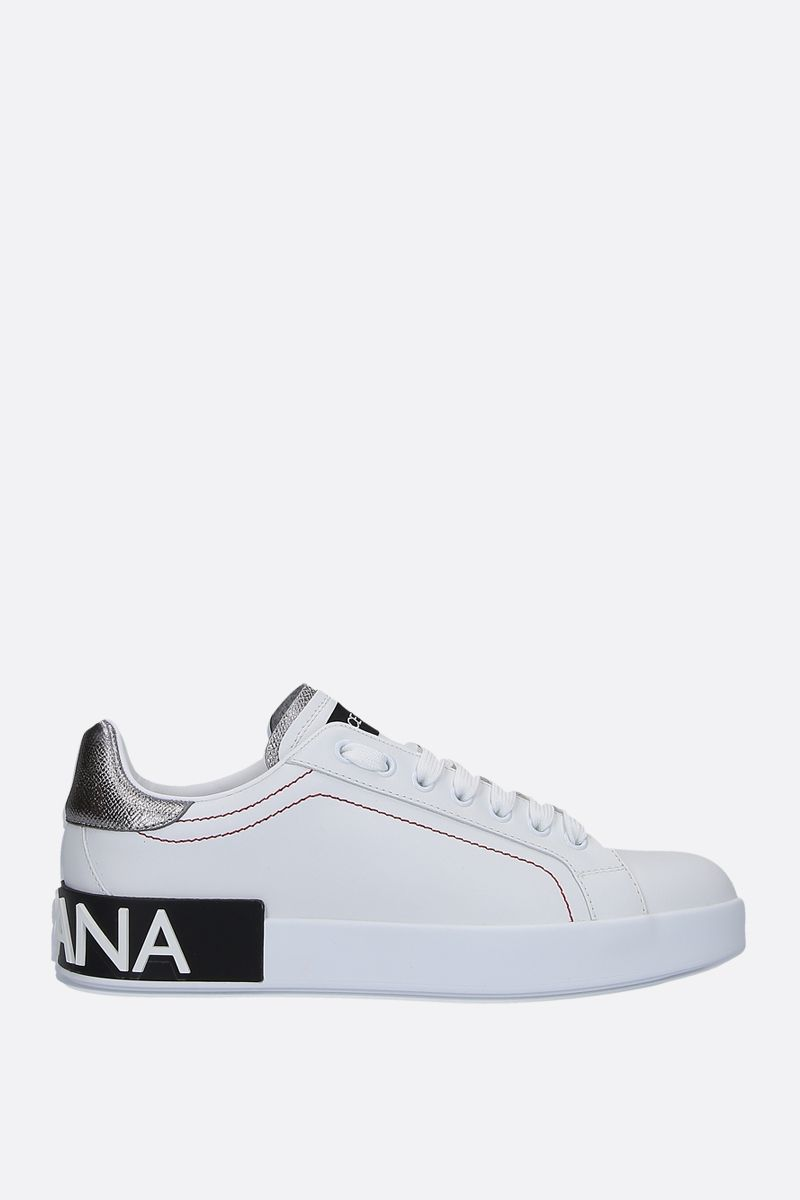 DOLCE & GABBANA: Portofino calf nappa sneakers Color White_1