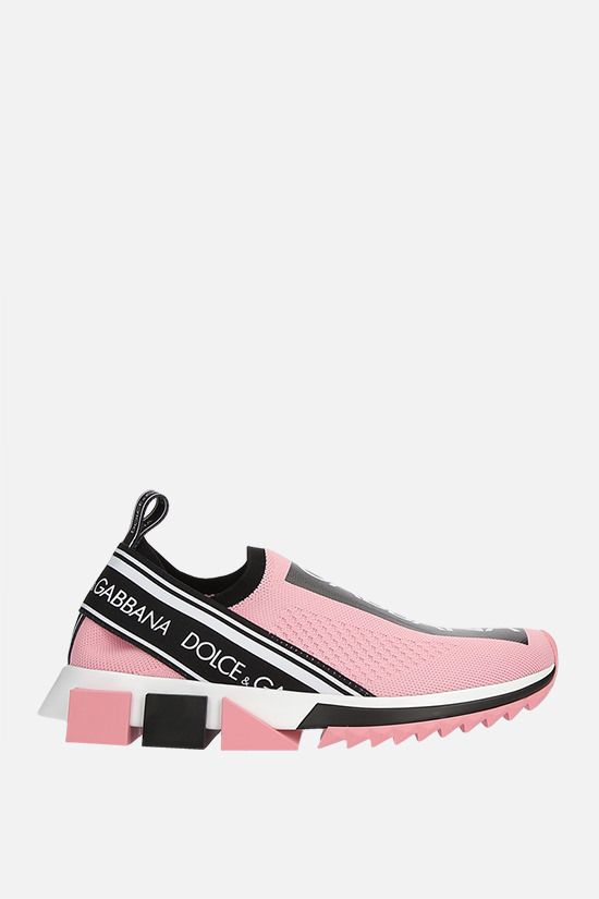 DOLCE & GABBANA: Sorrento stretch knit sneakers Color Pink_1