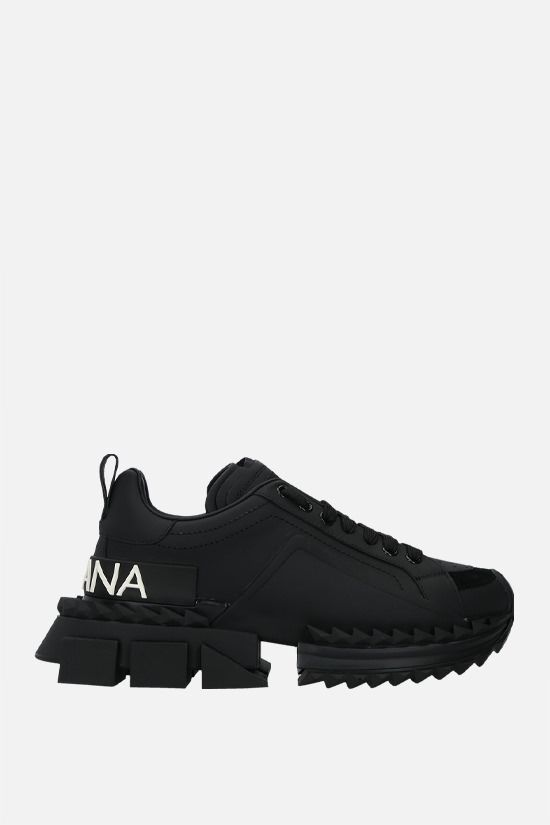 DOLCE & GABBANA: Super Queen calf nappa sneakers Color Black_1