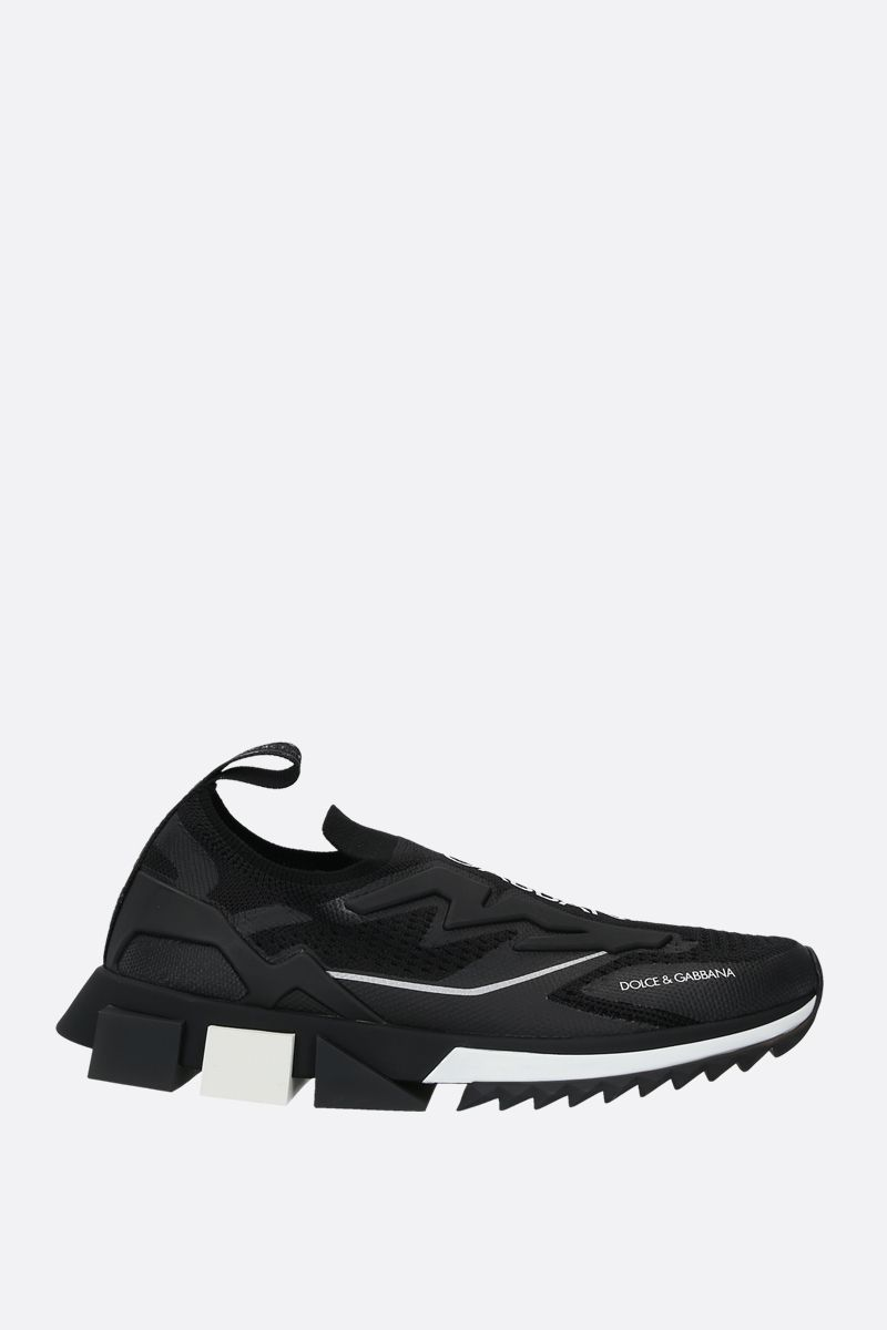 DOLCE & GABBANA: Sorrento stretch jersey sneakers Color Black_1