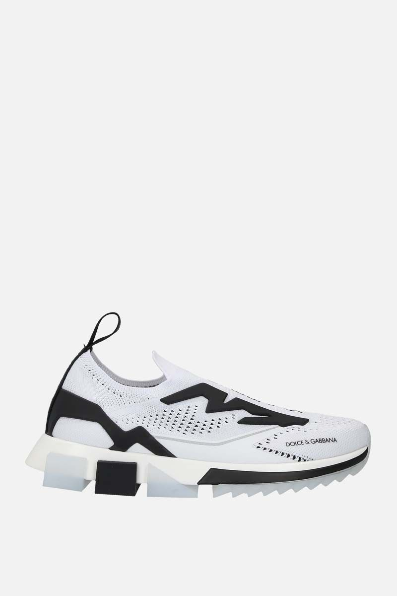 DOLCE & GABBANA: Sorrento stretch jersey sneakers Color Grey_1