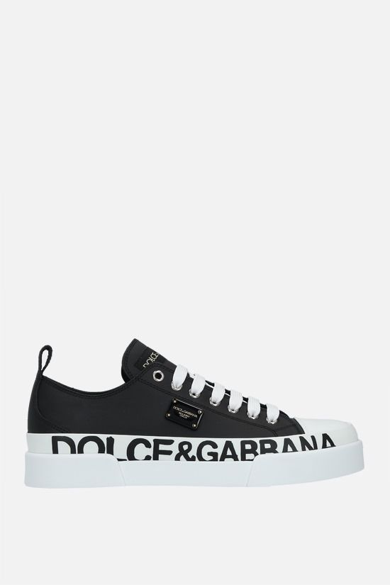 DOLCE & GABBANA: Portofino Light smooth leather sneakers Color Black_1