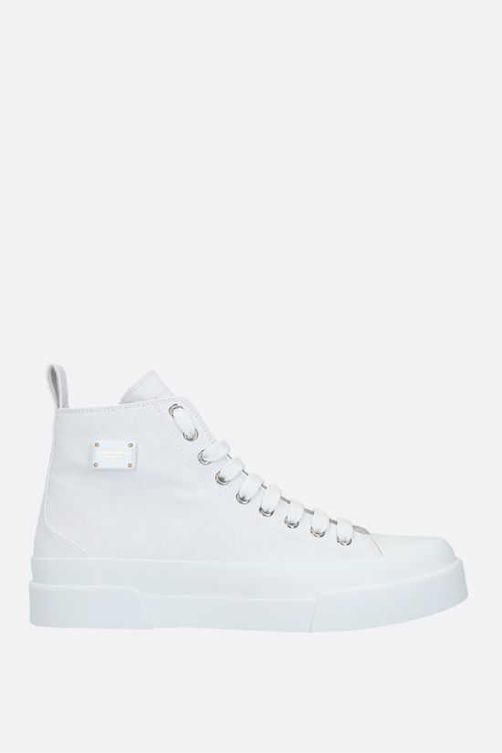 DOLCE & GABBANA: sneaker high-top Portofino Light in canvas Colore Bianco_1