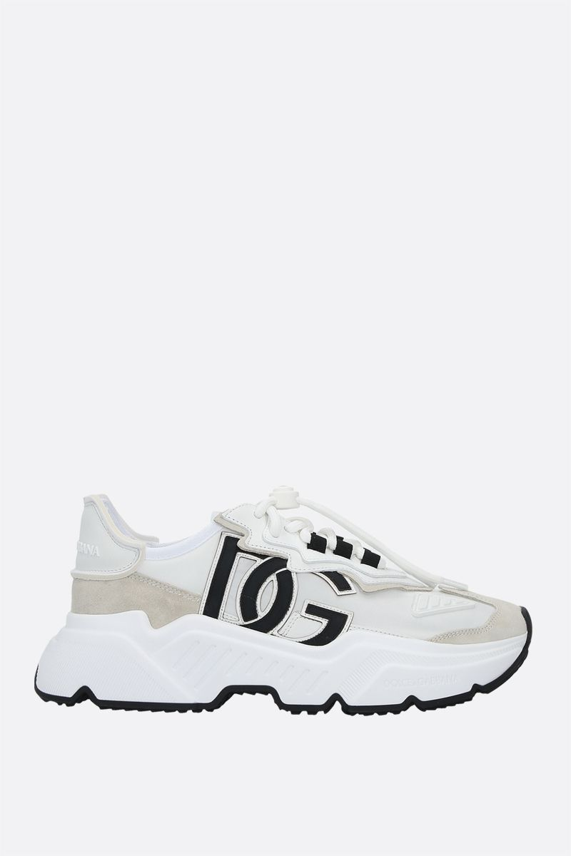 DOLCE & GABBANA: Daymaster sneakers in a mix of materials Color White_1