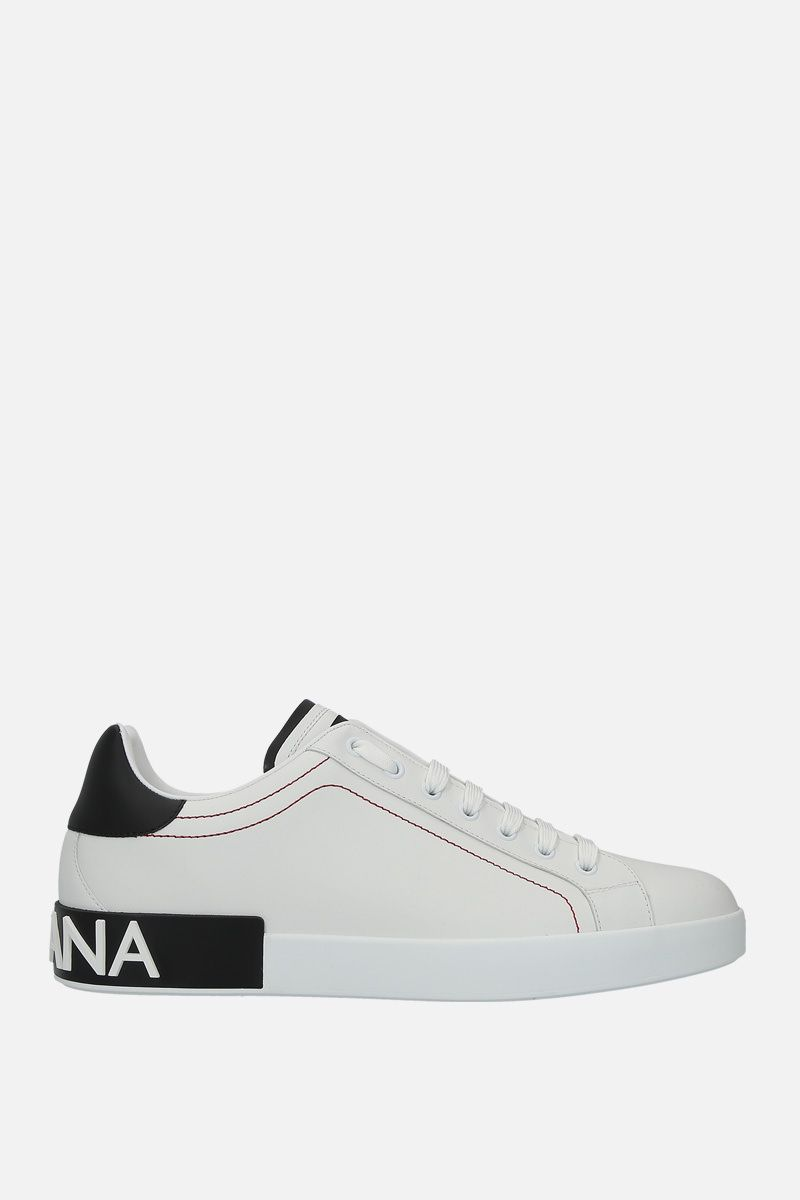 DOLCE & GABBANA: Portofino sneakers in calf nappa Color White_1