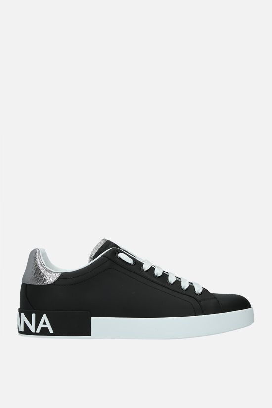 DOLCE & GABBANA: Portofino calf nappa sneakers Color Black_1