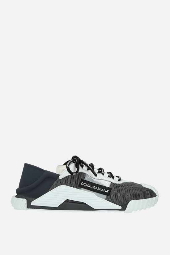 DOLCE & GABBANA: NS1 slip-on sneakers in a mix of materials Color Grey_1