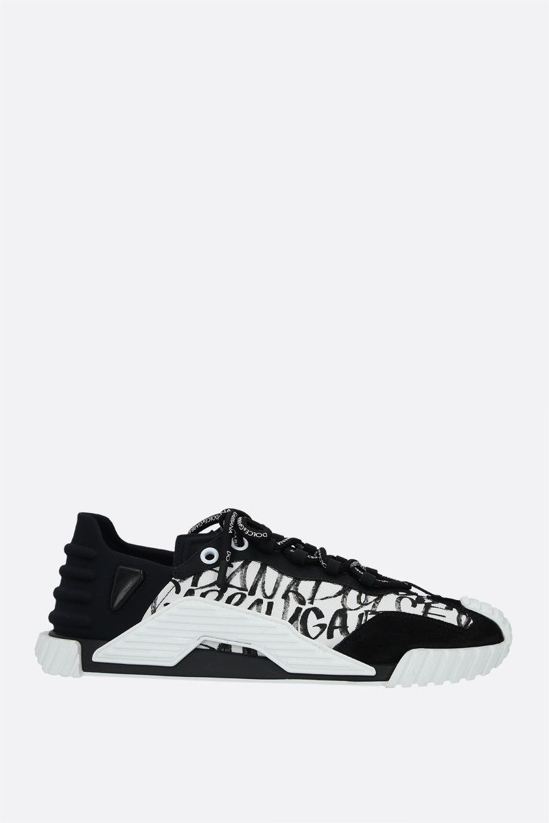 DOLCE & GABBANA: NS1 sneakers in a mix of materials Color White_1