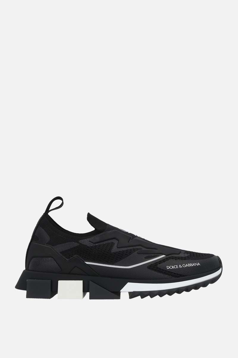DOLCE & GABBANA: Sorrento New stretch knit sneakers Color Black_1