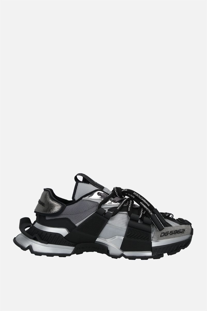 DOLCE & GABBANA: Space sneakers in a mix of materials Color Black_1