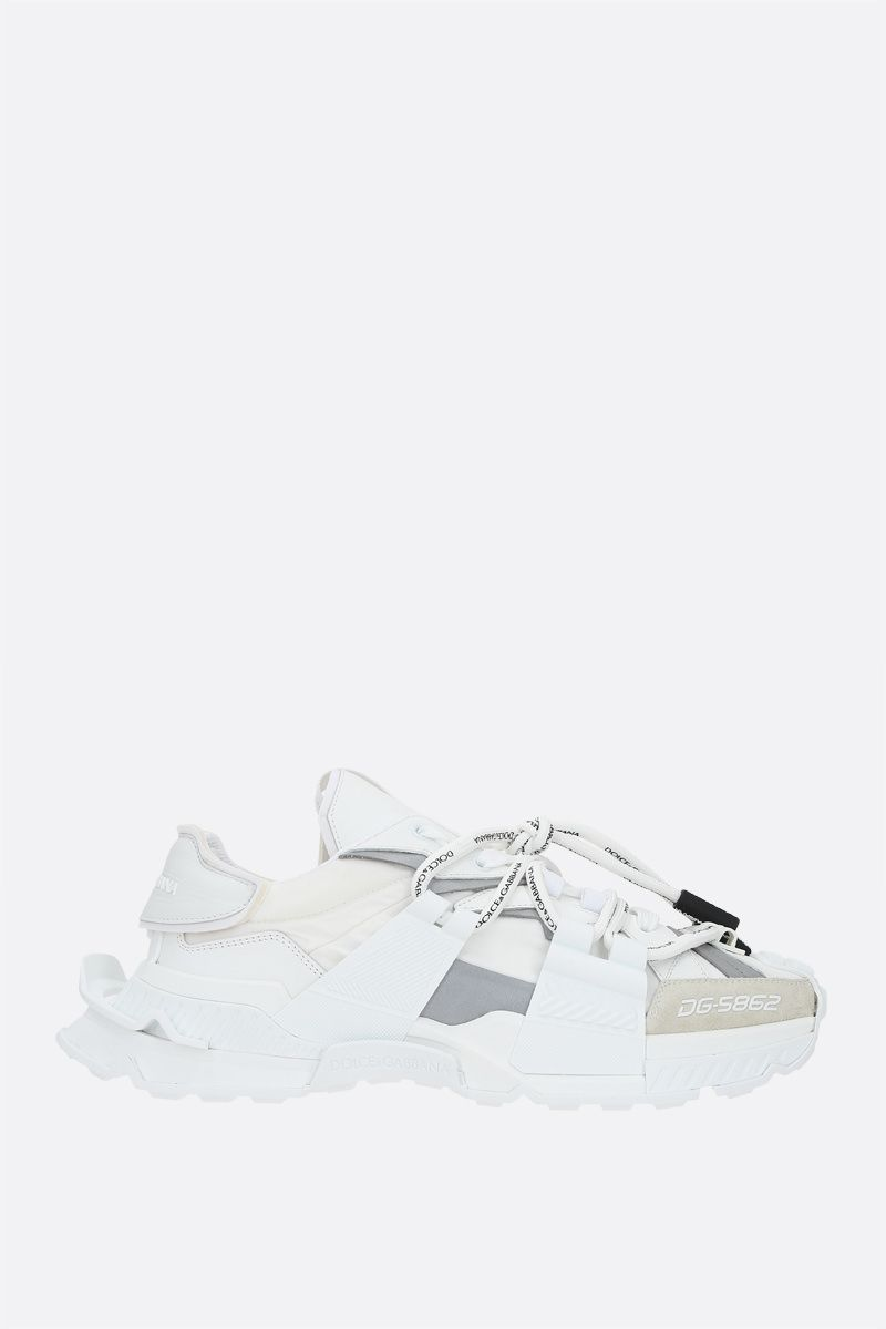 DOLCE & GABBANA: Space sneakers in a mix of materials Color White_1
