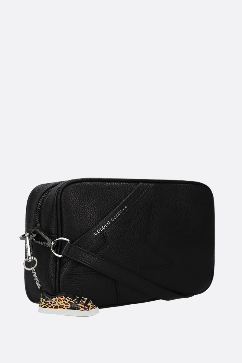 GOLDEN GOOSE DELUXE BRAND: Star crossbody bag in grainy leather Color Black_2