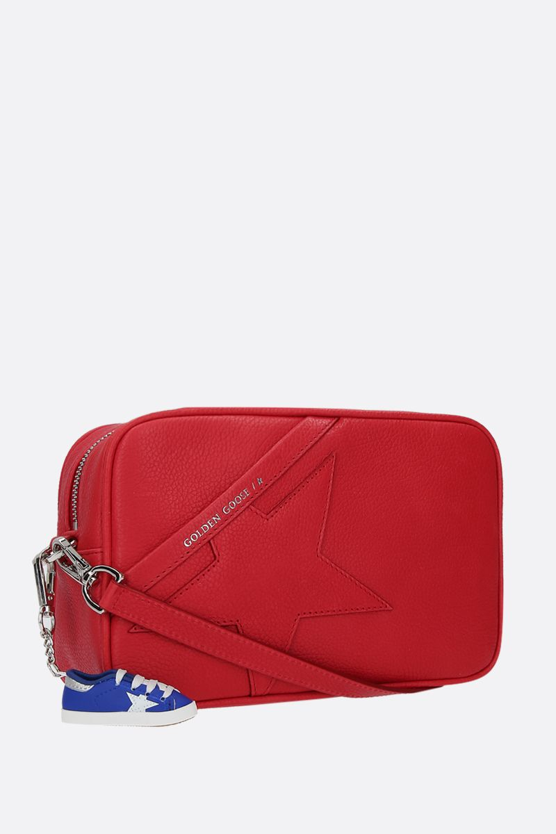 GOLDEN GOOSE DELUXE BRAND: Star crossbody bag in grainy leather Color Red_2