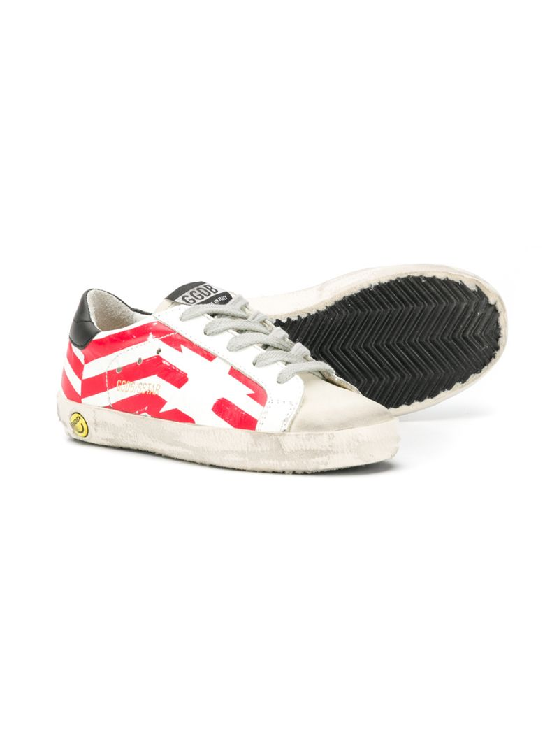 GOLDEN GOOSE DELUXE BRAND KIDS: Superstar leather and suede sneakers Color Multicolor_2