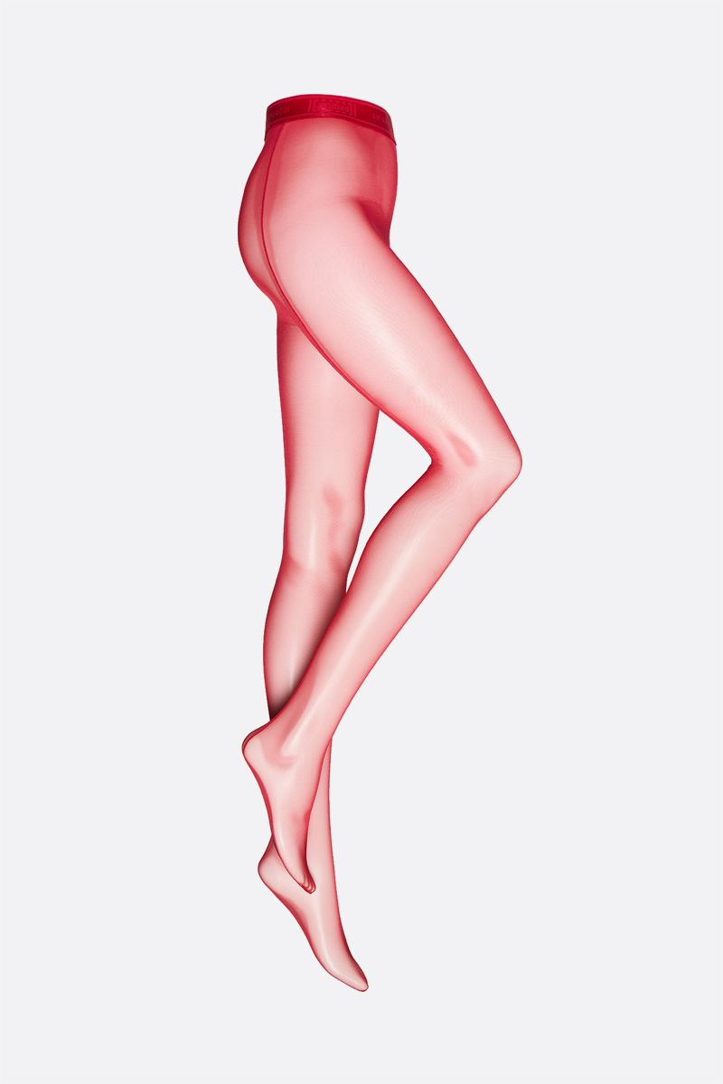 AMINA MUADDI X WOLFORD: tulle thong tights Color Red_1