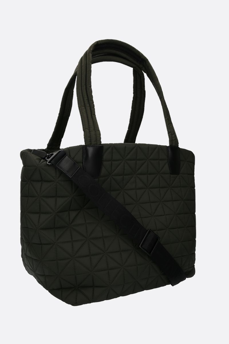VEE COLLECTIVE: borsa tote Vee media in nylon Ripstop Colore Verde_2