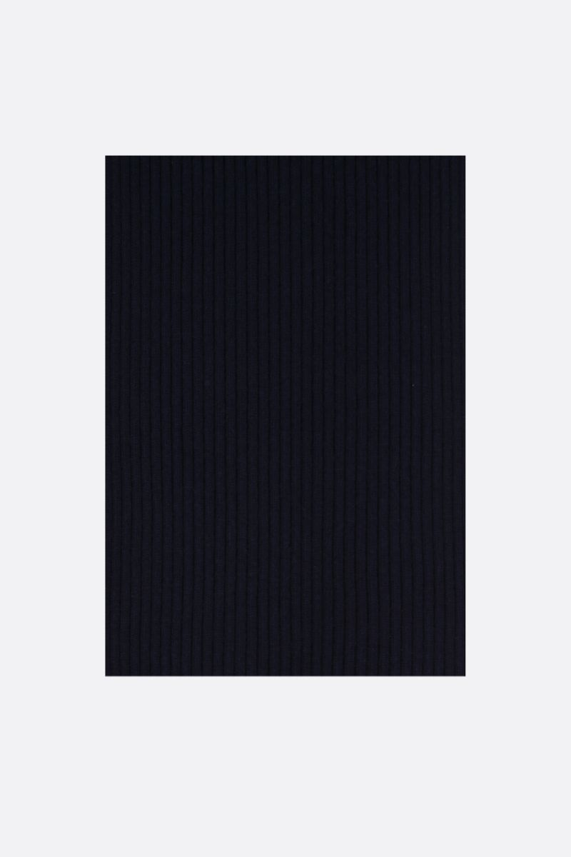 ROBERTO COLLINA: rib knit wool scarf Color Blue_1
