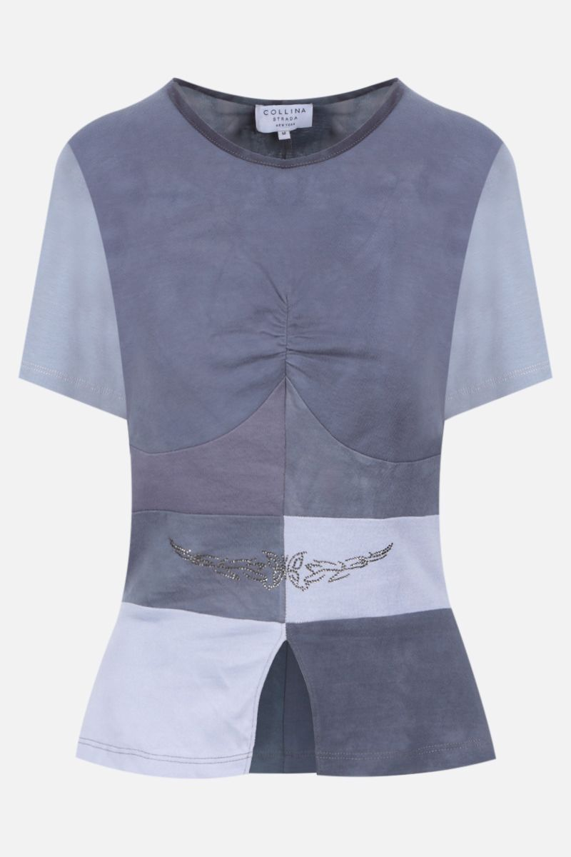 COLLINA STRADA: t-shirt Gina in cotone upcycled Colore Grey_1