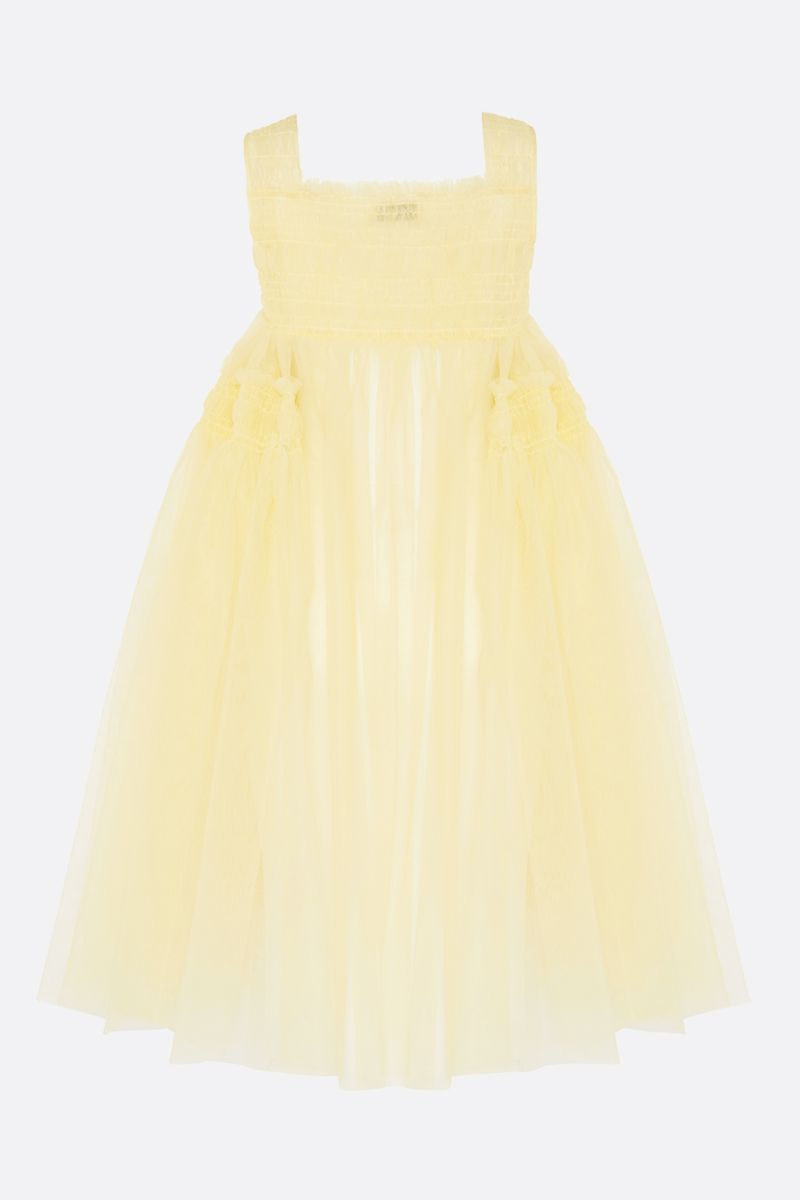 MOLLY GODDARD: Jamila tulle midi dress Color Yellow_2