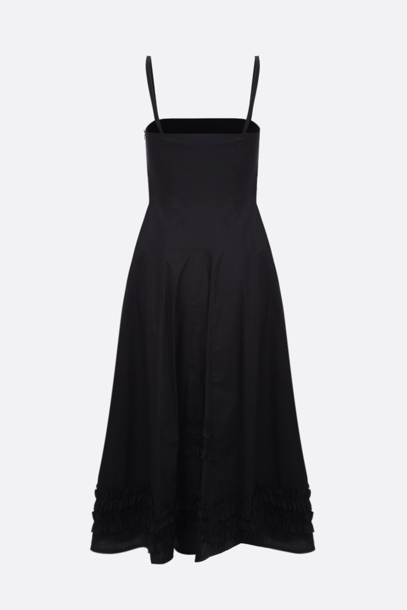 MOLLY GODDARD: Flavio cotton midi dress Color Black_2