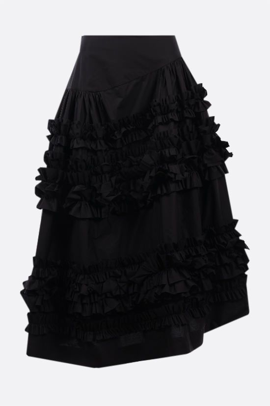 MOLLY GODDARD: Otis ruches-detailed poplin skirt Color Black_2