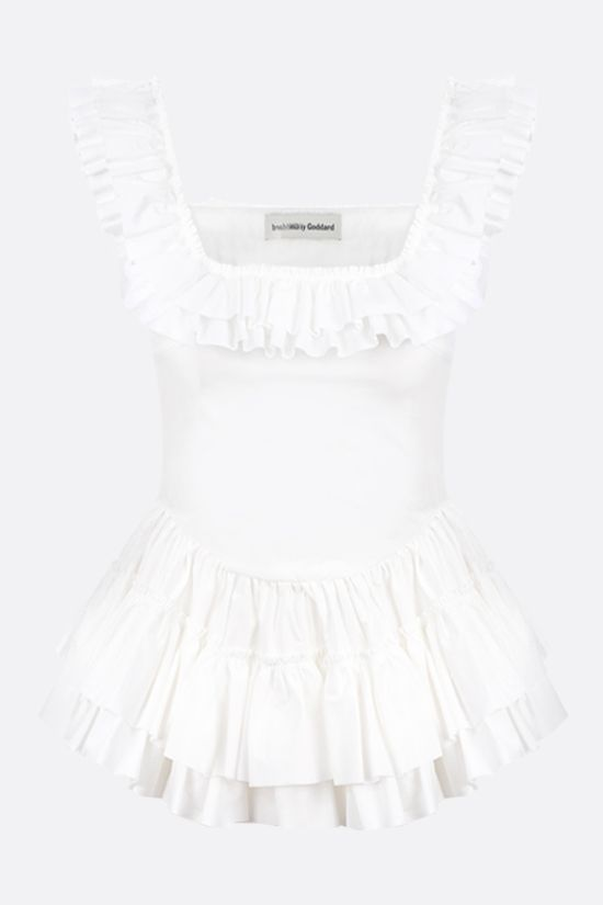 MOLLY GODDARD: Oliver frill cotton top Color White_1