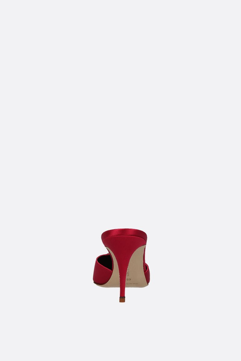 MANOLO BLAHNIK: Mufasa satin mules Color Red_3