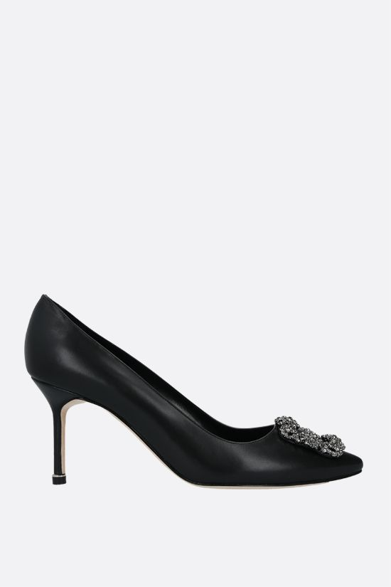MANOLO BLAHNIK: Hangisi smooth leather pumps Color Black_1