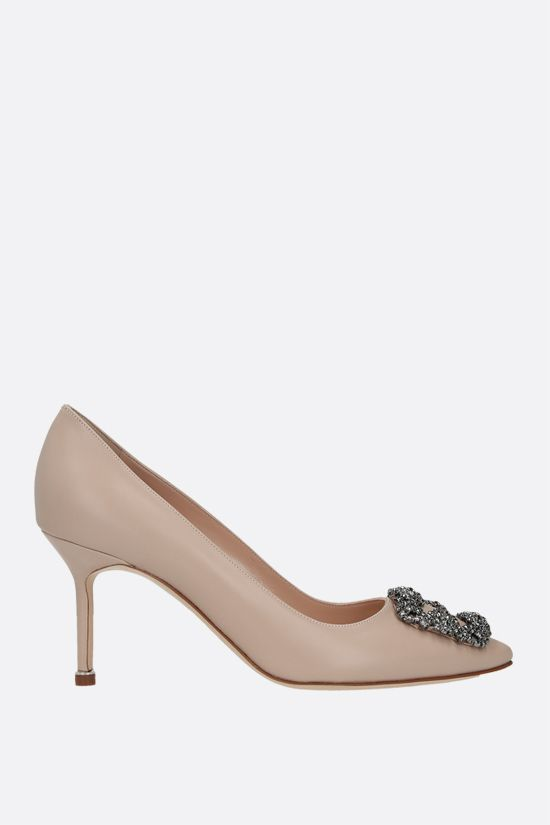 MANOLO BLAHNIK: Hangisi smooth leather pumps Color Neutral_1
