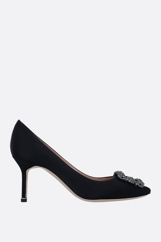 MANOLO BLAHNIK: Hangisi satin pumps Color Black_1