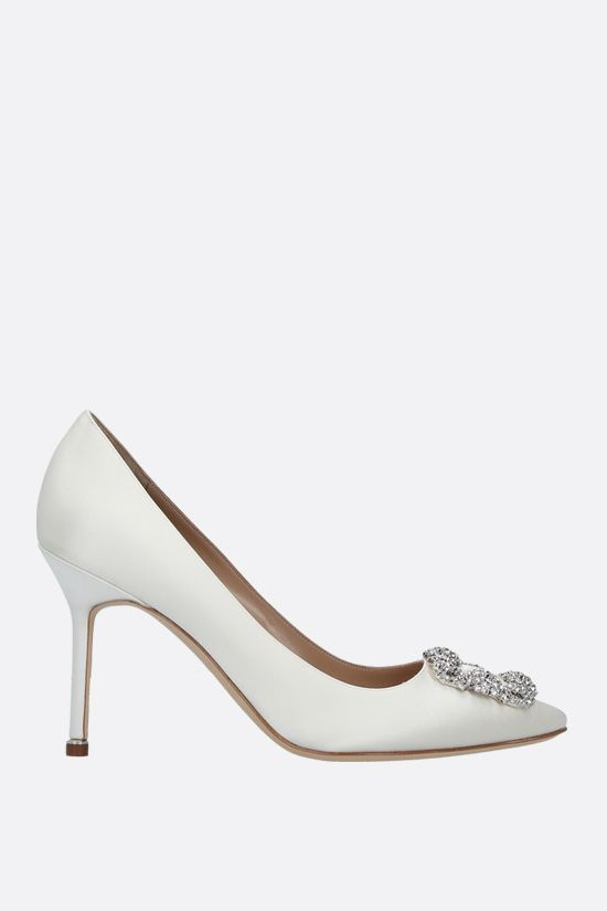 MANOLO BLAHNIK: Hangisi satin pumps Color Yellow_1