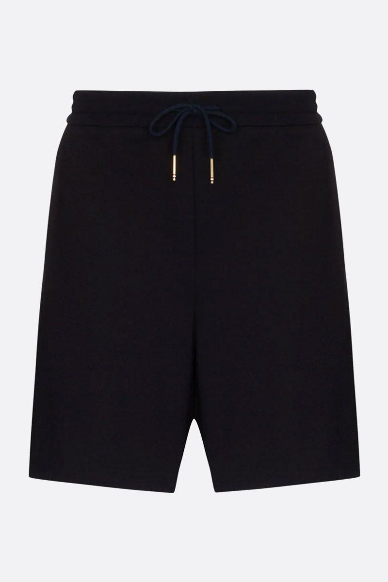 THOM BROWNE: tricolour bands-detailed cotton shorts Color Blue_1