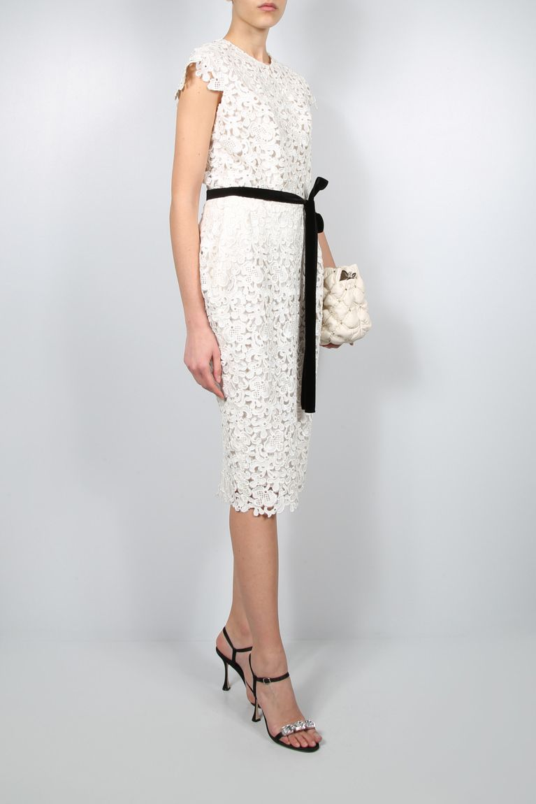 TOM FORD: floral lace pencil dress Color Multicolor_2