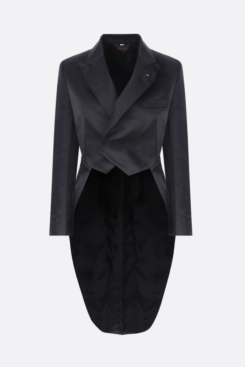 COMME des GARCONS: giacca smoking in raso Colore Black_1