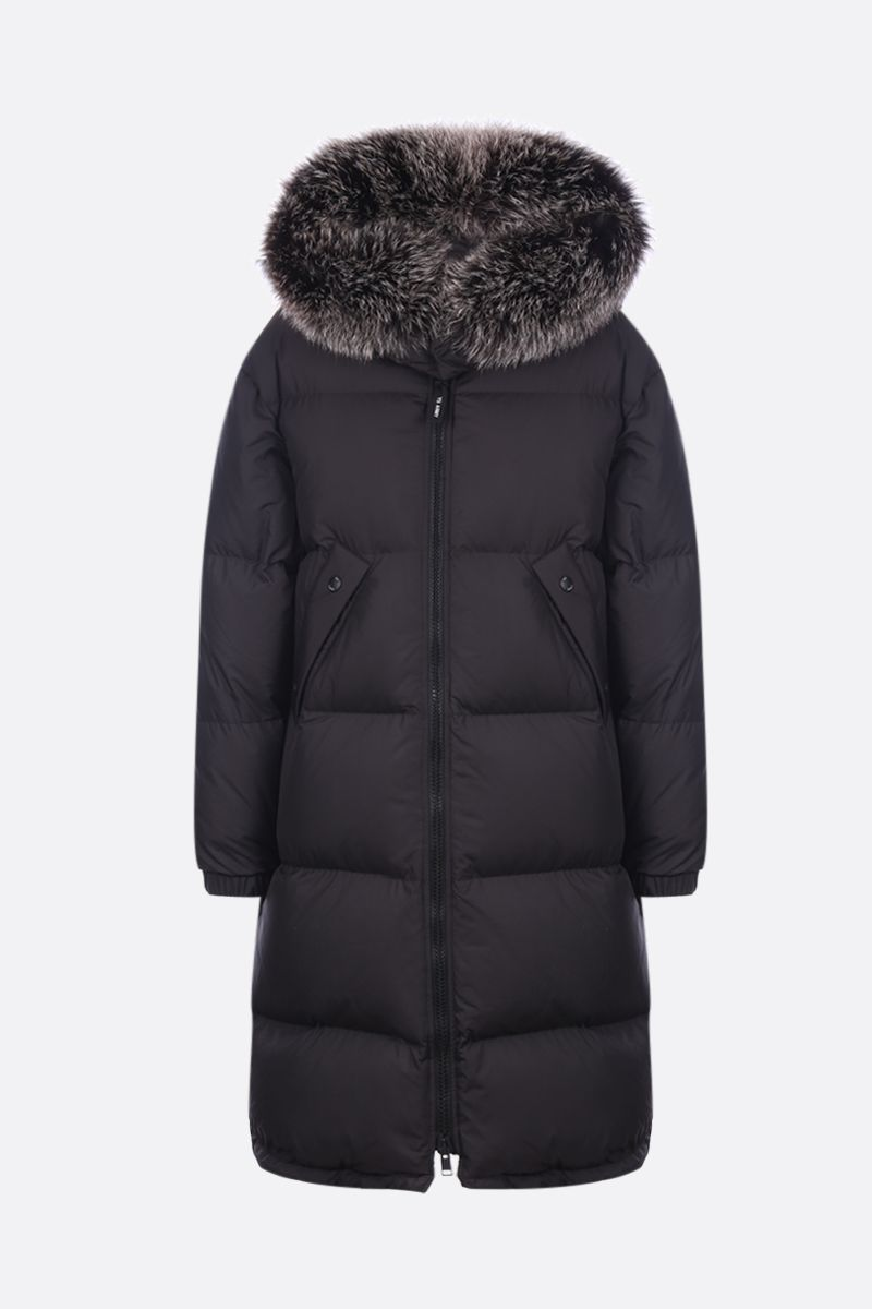 ARMY BY YVES SALOMON: double down jacket in nylon Color Black_1