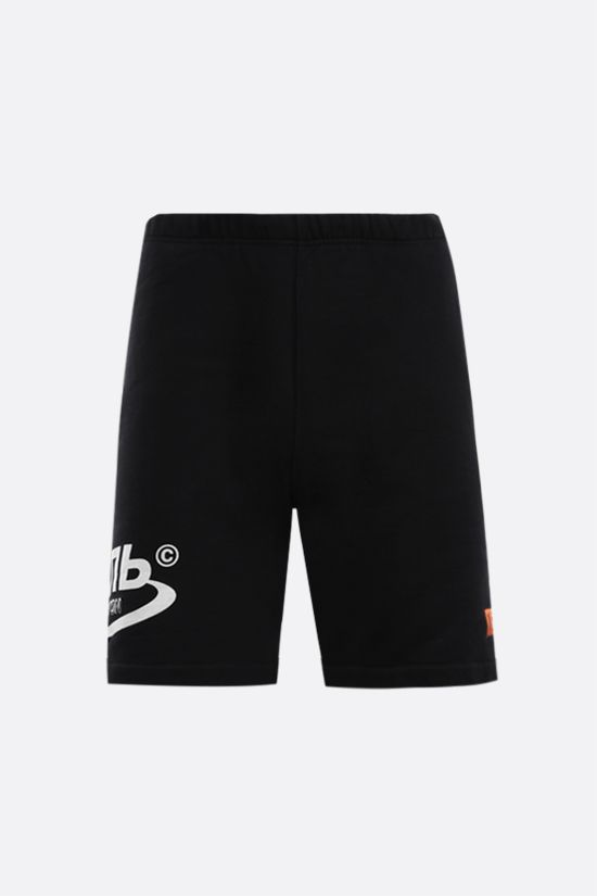 HERON PRESTON: Track cotton shorts Color Black_1